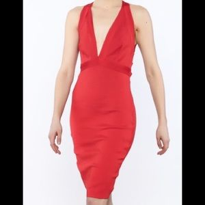 WOW COUTURE red bodycon dress size: Small